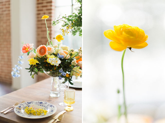 Modern Spring tablescape