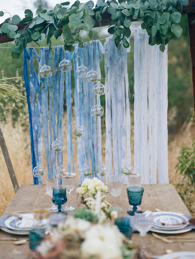blue ribbon backdrop