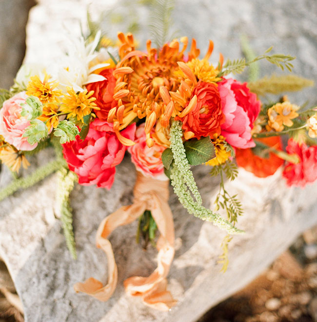 bright colorful bouquet