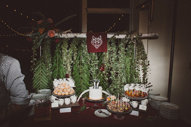 greenery cake backdrop
