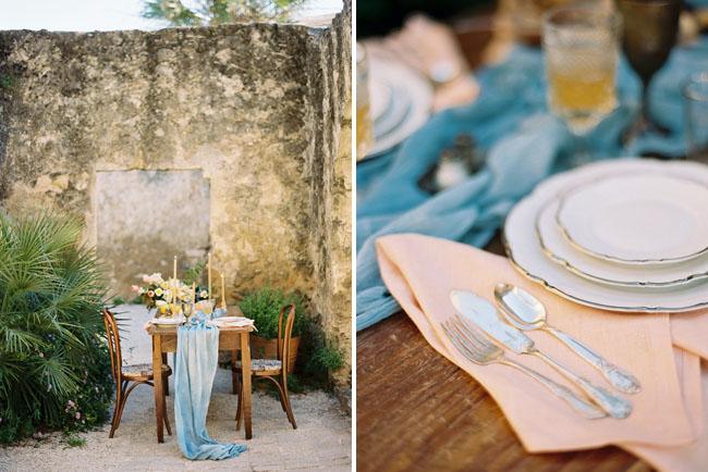 vintage glam tablescape