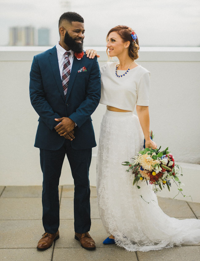 Patriotic Courthouse Wedding: Kehrin + Jason - Green Wedding Shoes