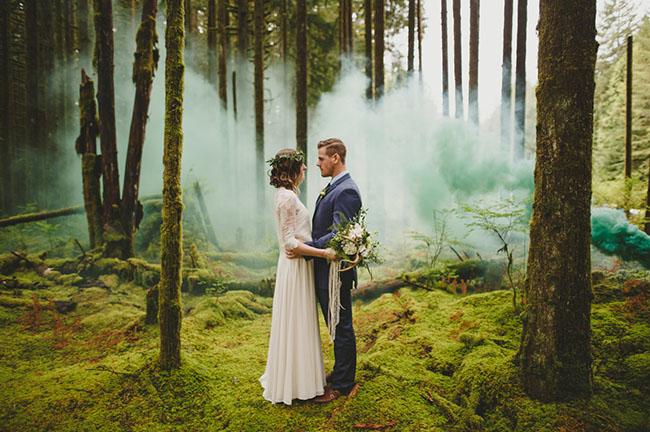 Green Wedding Shoes Confetti Filled Wedding