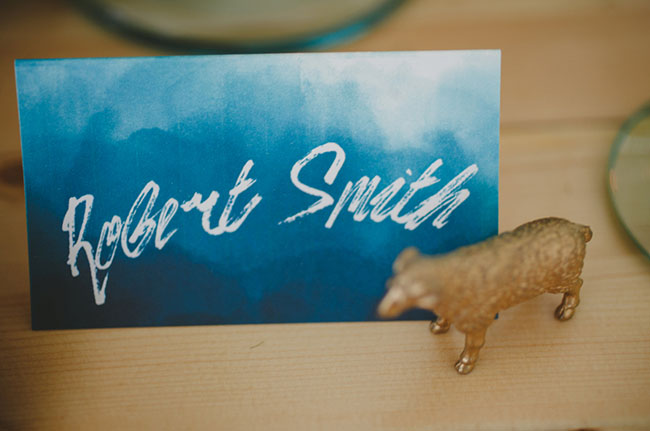 dyed name card