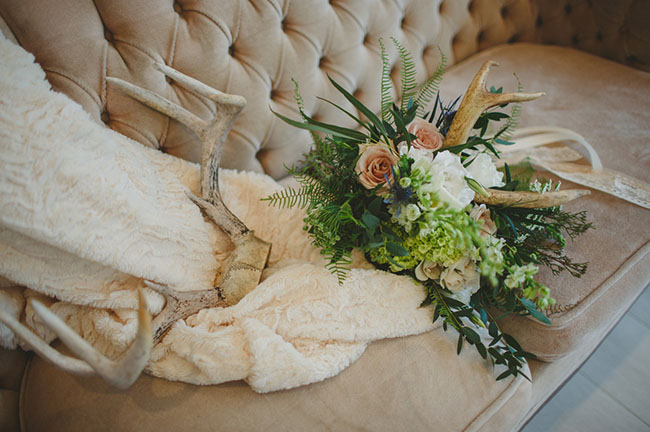 bouquet with antlers
