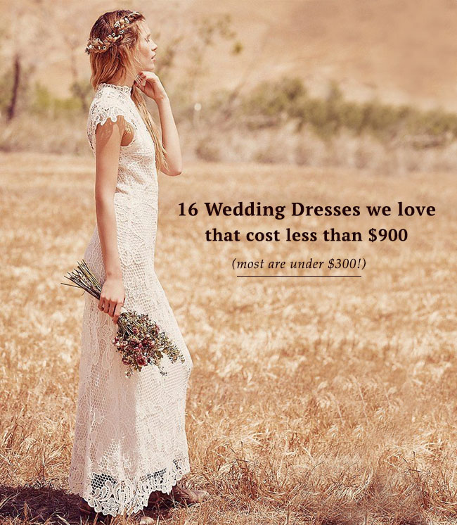 Our Favorite Wedding Dresses Under $900