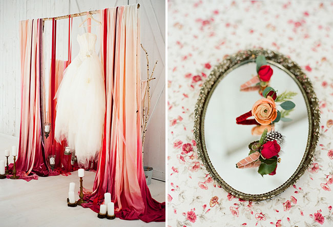 pink ombre backdrop