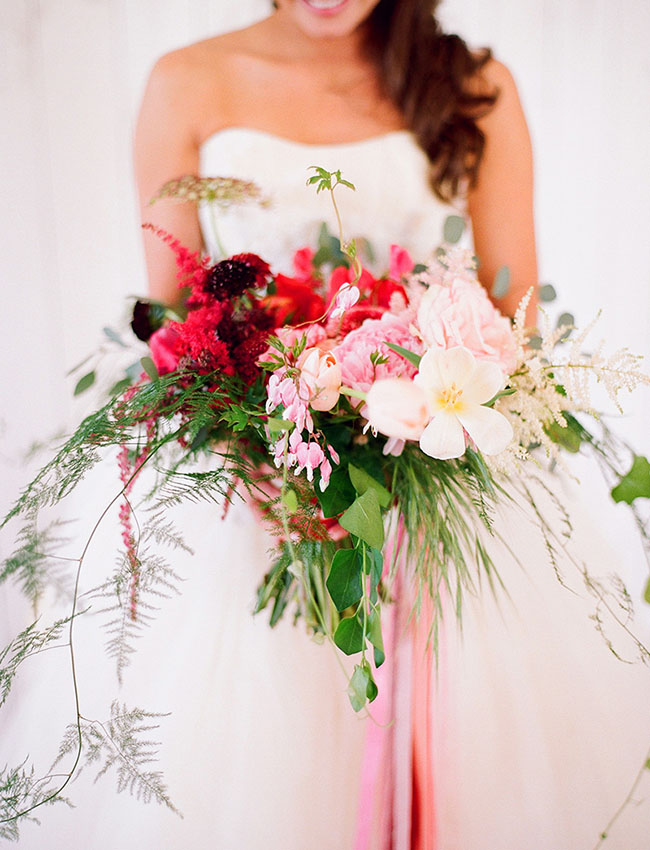 romantic and wild pink bouquet