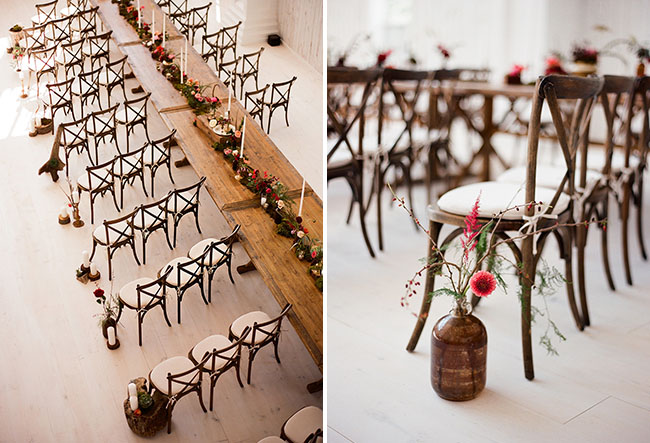 wooden ceremony chairs