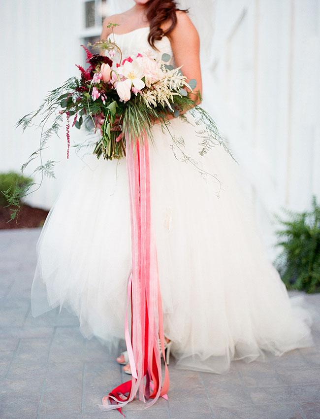 tulle skirt wedding dress