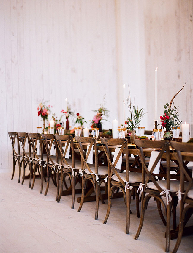 long family style tables