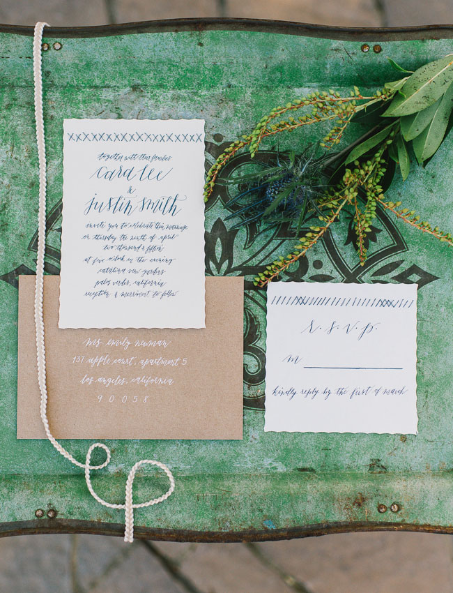 woven inspired invitation