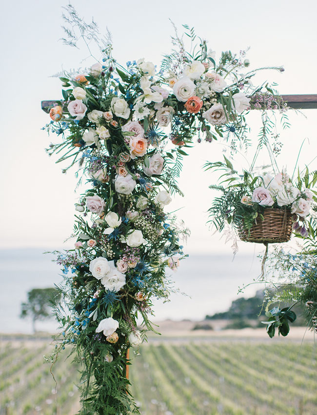 Hanging florals backdrop