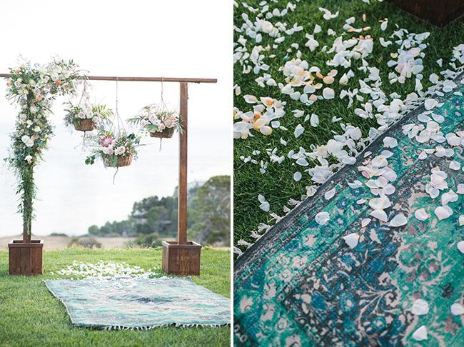 Hanging florals backdrop