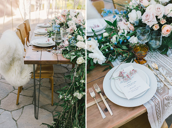 floral garland tablerunner