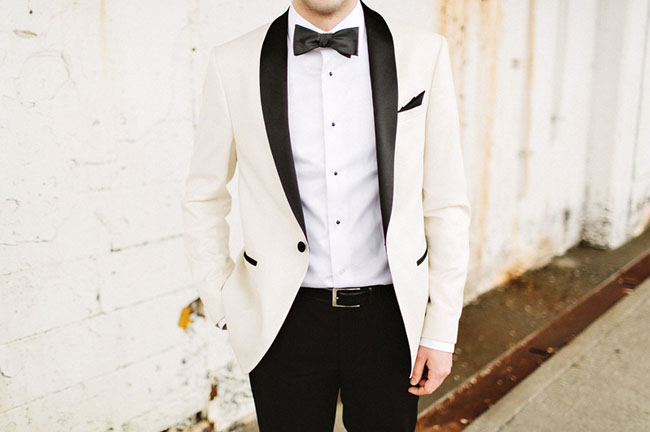 white grooms jacket