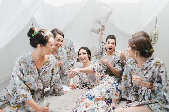 floral robe bridesmaids