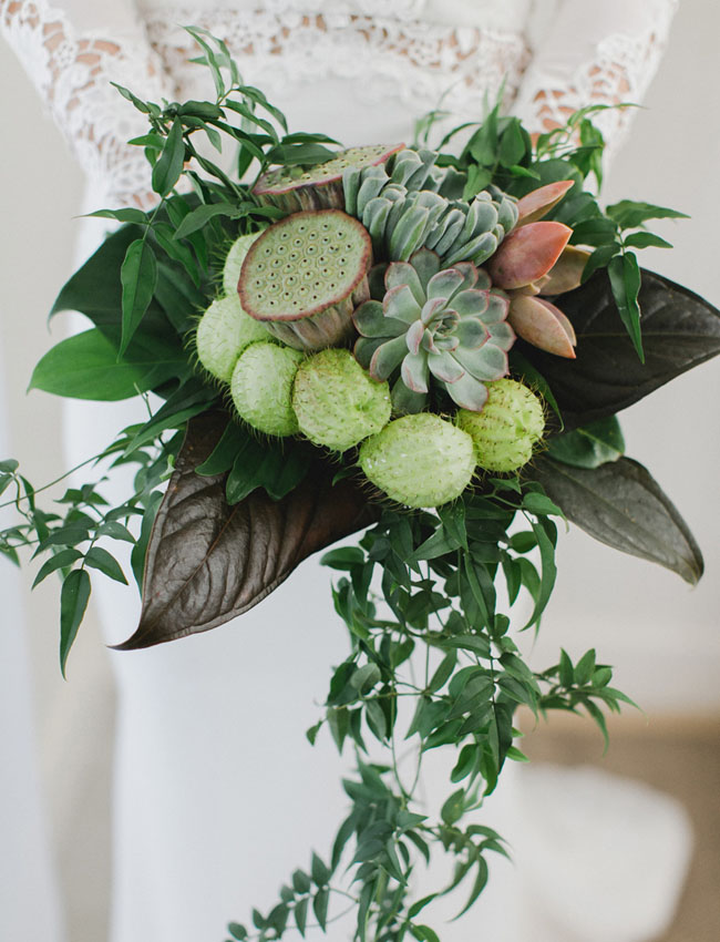 whimsical green bouquet