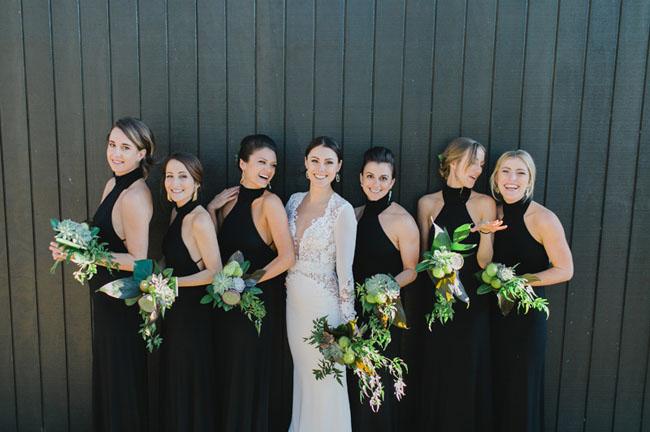 black halter bridesmaids