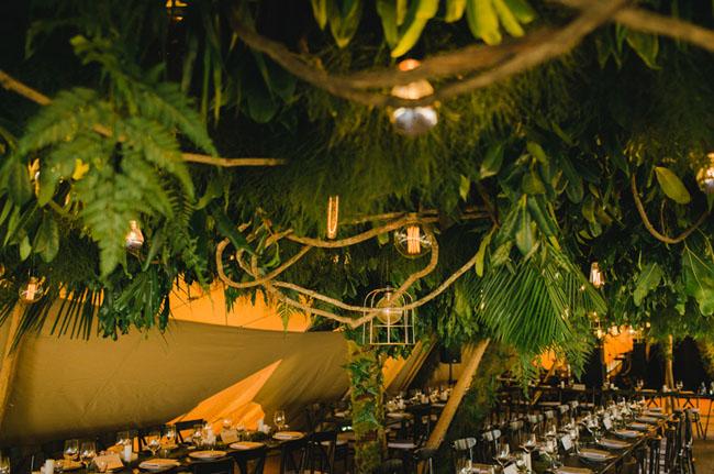 fern reception ceiling