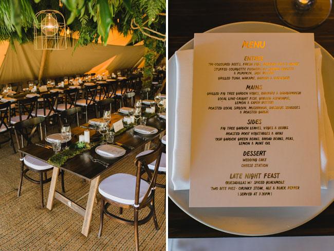 gold menu