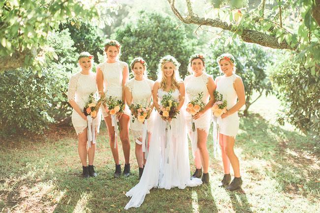 lace bridesmaids