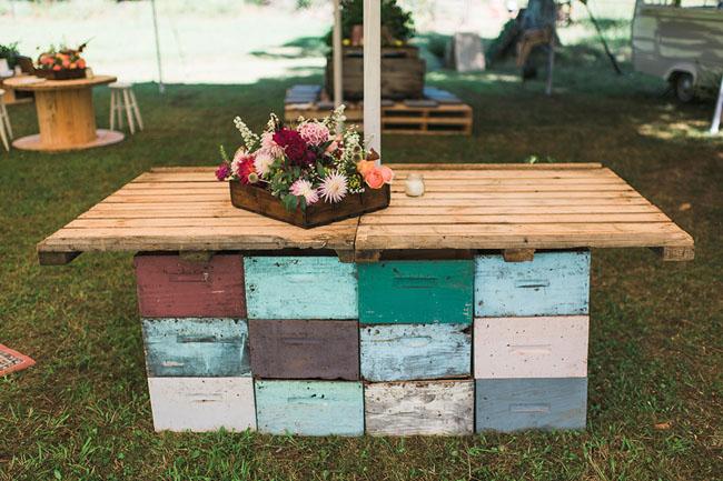 wooden palette tables
