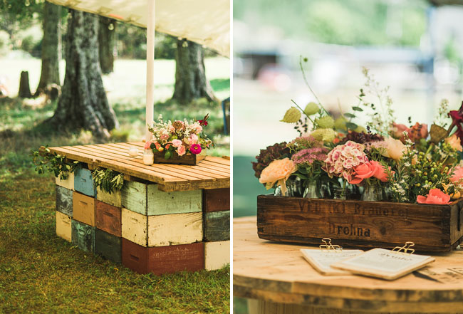 wooden palette tables