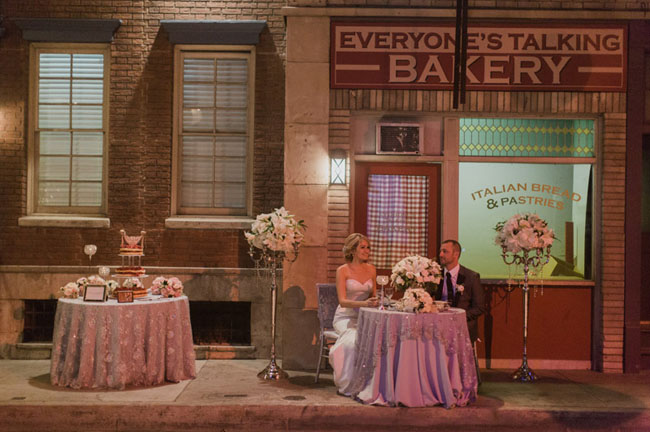CBS Backlot Wedding