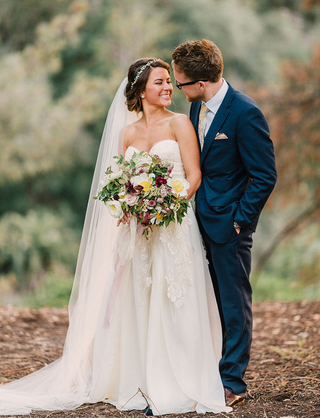 Intimate San Diego Backyard Wedding Gianna Chad Green Wedding