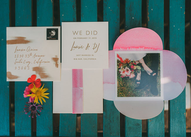 elopement paper goods