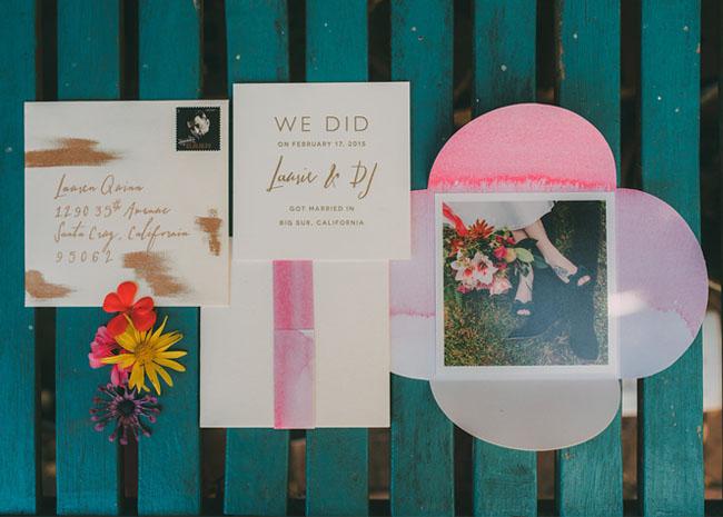 elopement paper goods