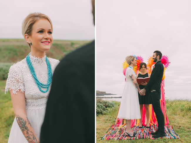 Colorful Retro Elopement