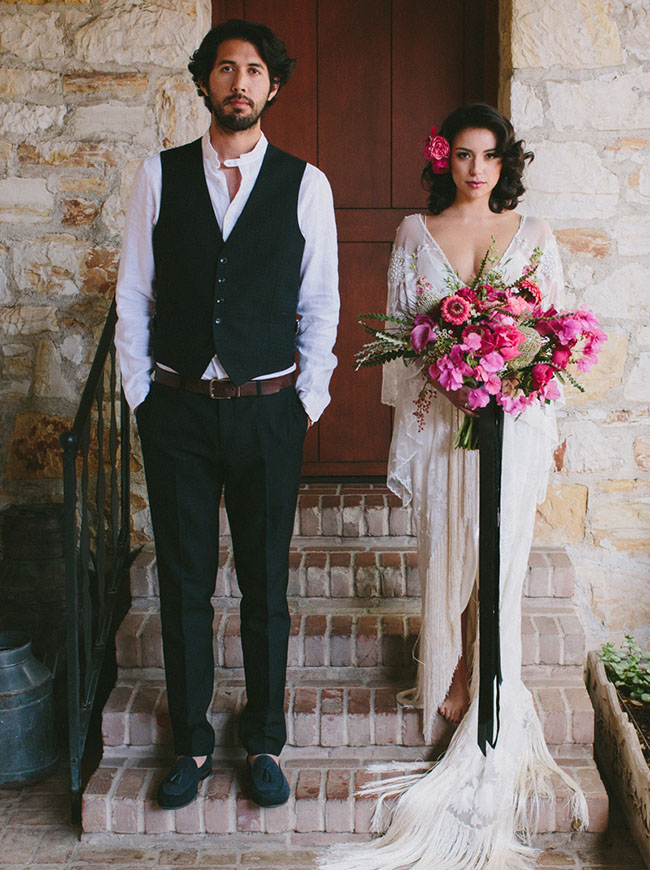 Fuchsia + Cognac Wedding Inspiration