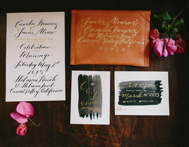 leather invitation