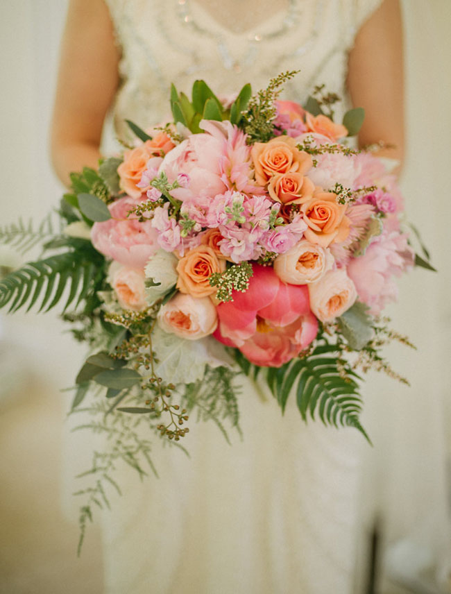 pink and peony bouquet