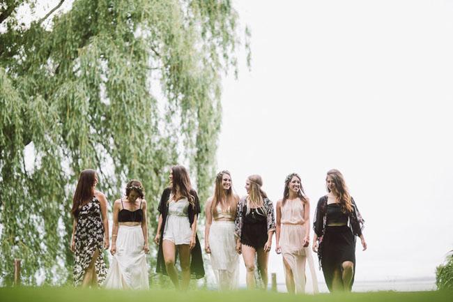 boho lakeside bridal shower inspiration