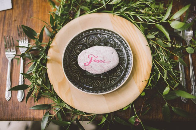 rock place setting