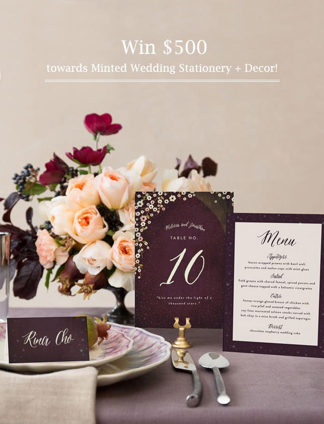 Wedding Stationery + Decor Giveaway from Minted!