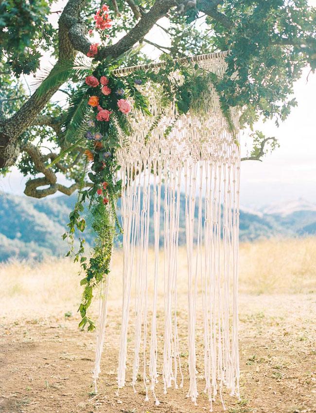 macrame ceremony backdrop