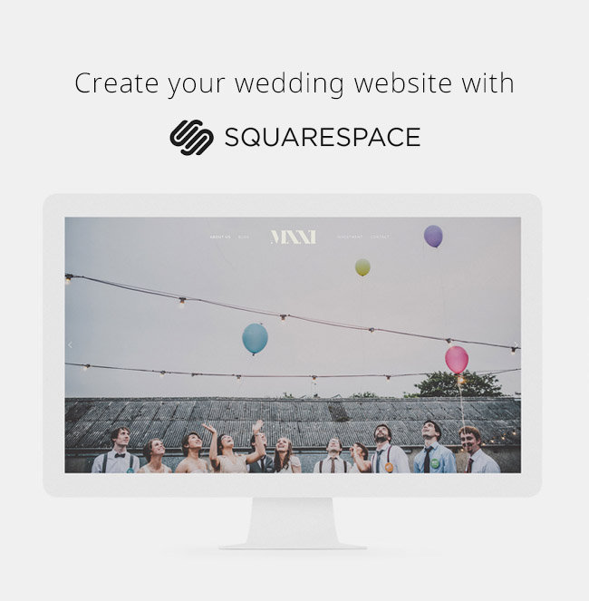 squarespace wedding websites