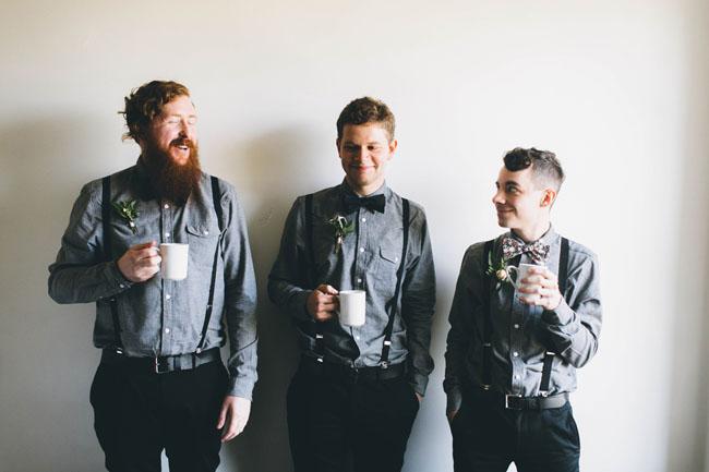chambray groomsmen