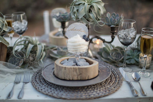 desert inspired plate setting
