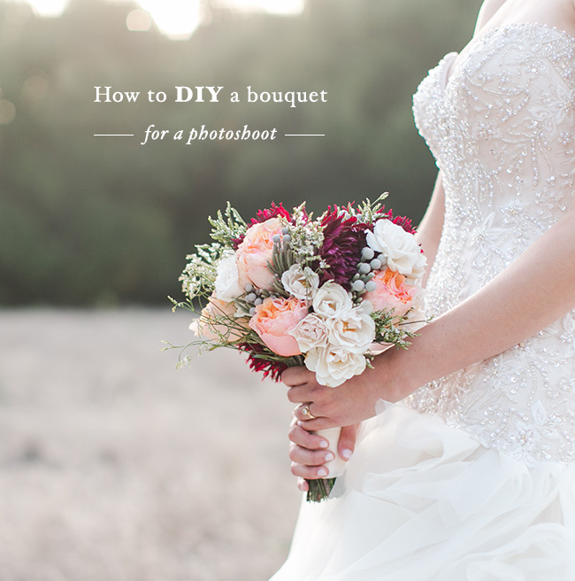 Diy Bridal Bouquet: DIY: How To Make A Bouquet For A Photoshoot