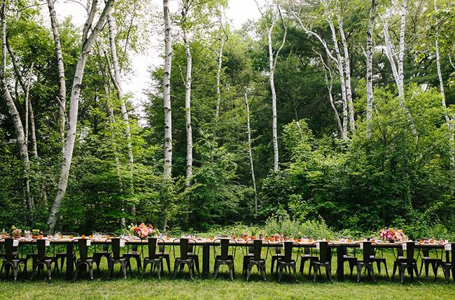 long reception tables