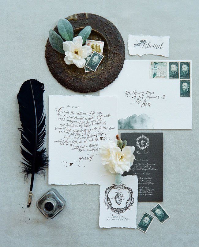 gray and white calligraphy