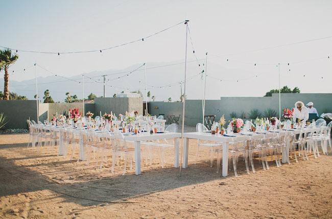 modern outdoor reception
