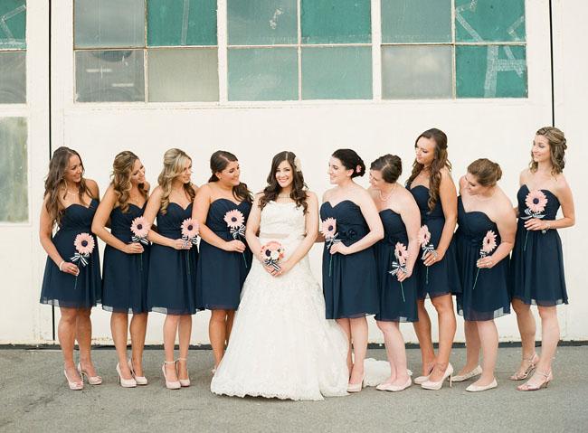 navy bridesmaids