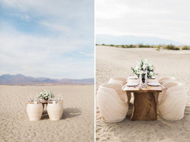 modern desert tablescape