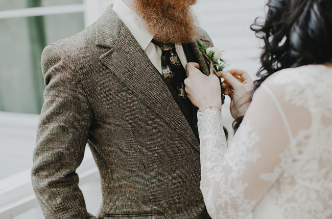 tweed groom's jacket